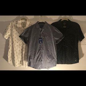 Men's Size Medium Button Down Shirt Bundle (3)